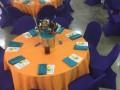 Orange-purple magic event decor