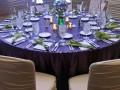 Purple glitz event decor