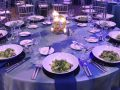 Water and fire event decor
